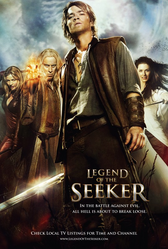 Un poster della stagione 2 di Legend of the Seeker
