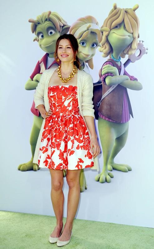 Jessica Biel alla premiere del film d'animazione 'Planet 51' a Los Angeles, il 14 Novembre 2009