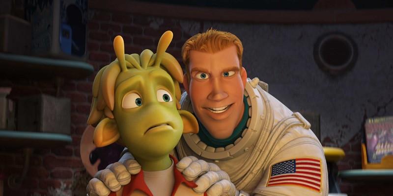 Lem e Chuck in una scena del film d'animazione Planet 51