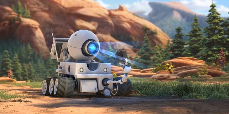 Rover in una scena del film d'animazione Planet 51