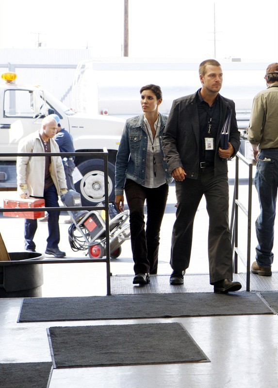 Daniela Ruah, Chris O'Donnell e LL Cool J nell'episodio Pushback di NCIS: Los Angeles