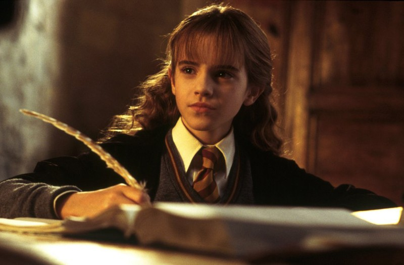 Emma Watson in una scena di Harry Potter e la camera dei segreti