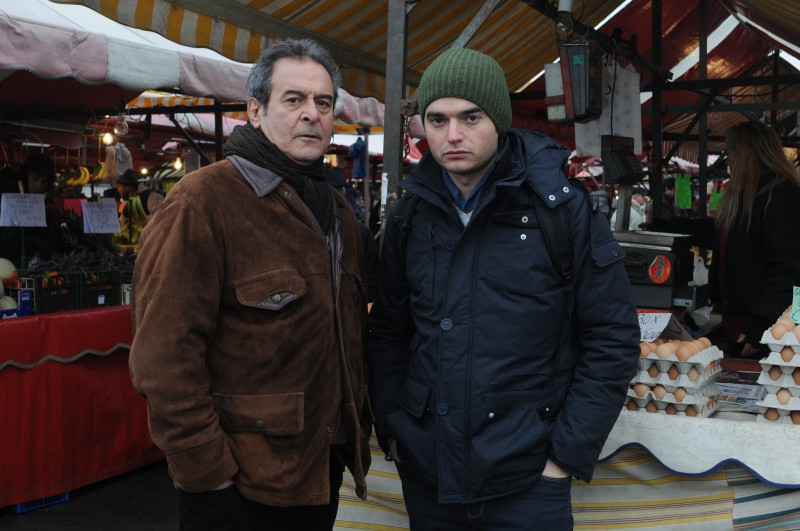Ennio Fantastichini con Paolo Briguglia in una sequenza del film La cosa giusta (2009)