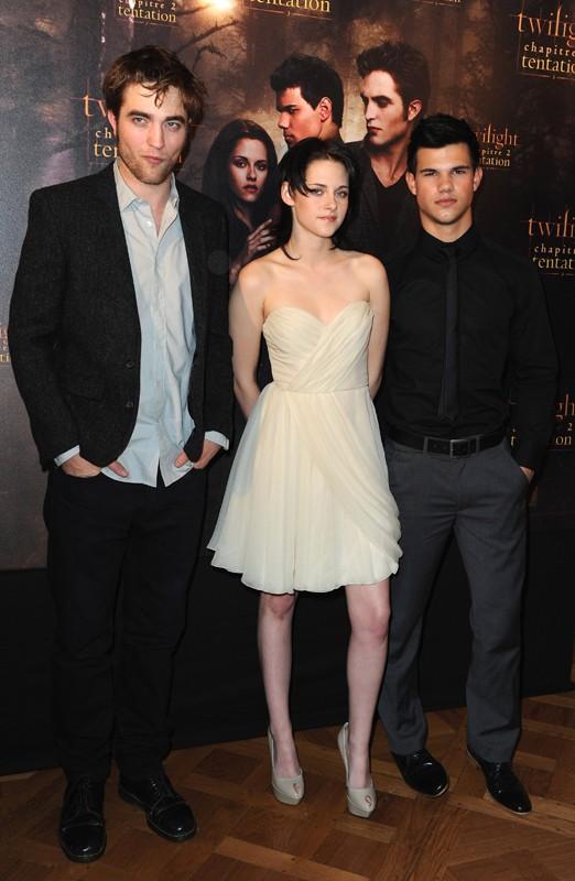 Robert Pattinson, Kristen Stewart e Taylor Lautner per il Photocall del film The Twilight Saga: New Moon, a Parigi