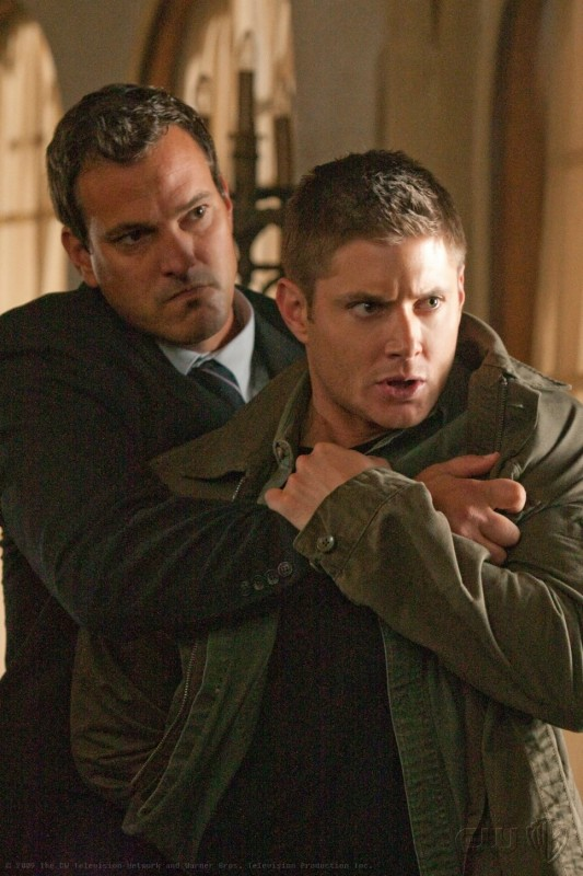 Supernatural: Jensen Ackles in una scena dell'episodio Abandon All Hope...