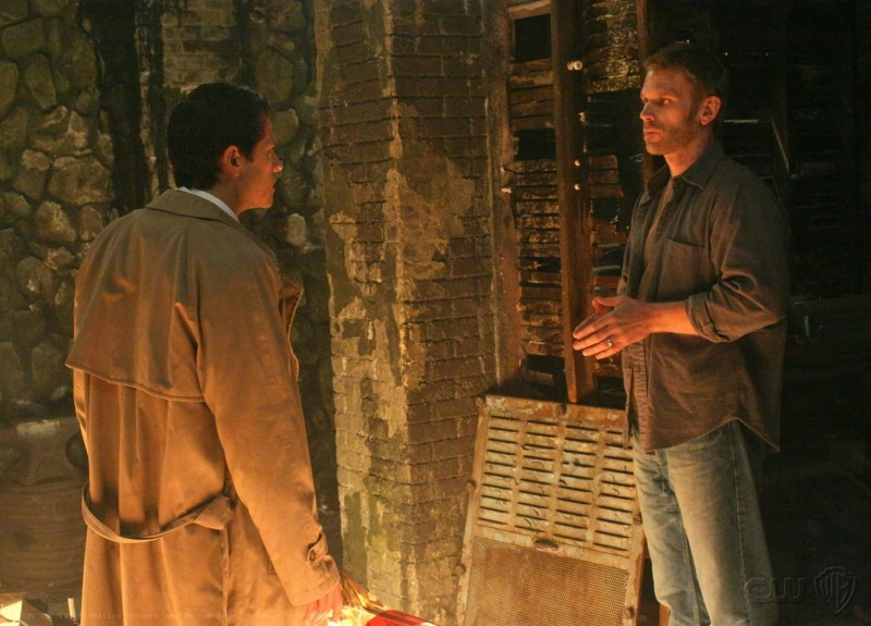Supernatural: Misha Collins e Mark Pellegrino nell'episodio Abandon All Hope...