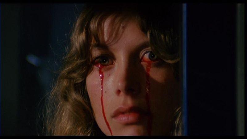 Daniela Doria in una scena del film Paura nella città dei morti viventi ( 1980 )