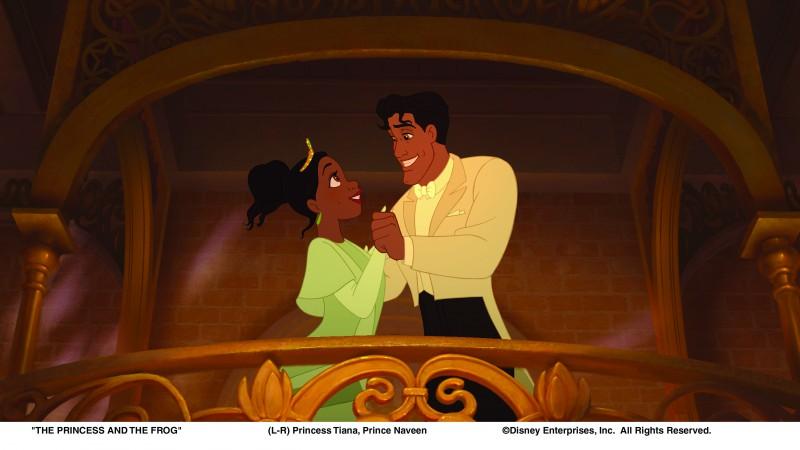 Due personaggi protagonisti del film Disney La principessa il ranocchio