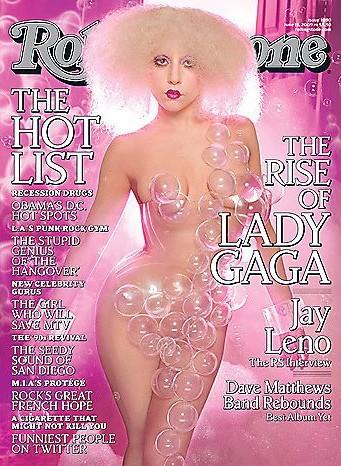 Lady GaGa sulla cover di Rolling Stone.