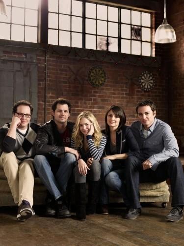 Life UneXpected: Austin Basis, Kristoffer Polaha, Britt Robertson, Shiri Appleby e Kerr Smith in una foto promozionale della serie