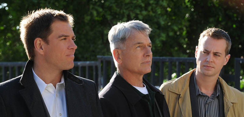 Mark Harmon, Michael Weatherly e Sean Murray nell'episodio Child's Play di Navy NCIS