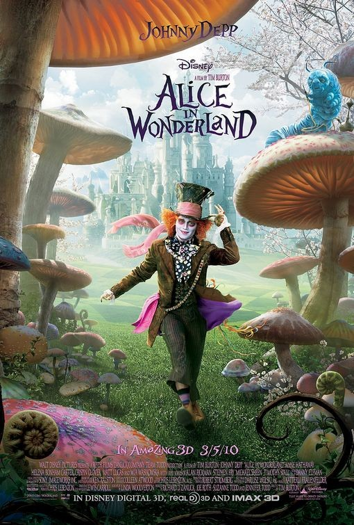 Terzo poster del film Alice in Wonderland