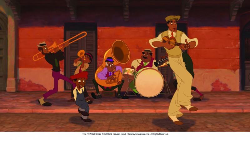 Un momento musicale del cartoon La principessa il ranocchio (2009)