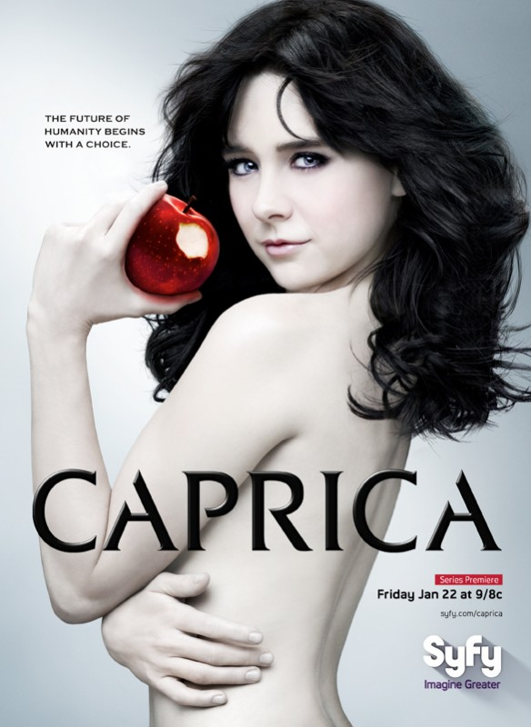 Un poster della nuova serie Caprica