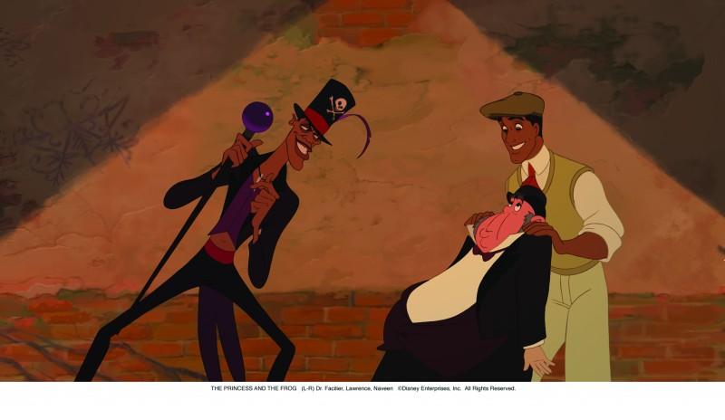 Una scena del cartoon La principessa il ranocchio (2009)