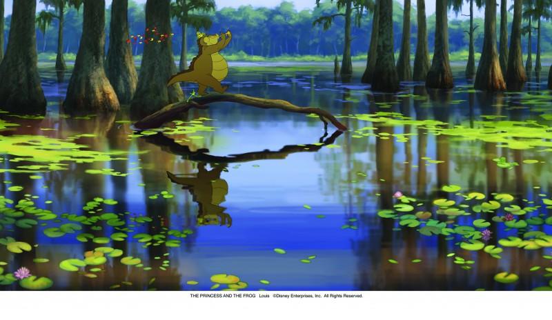 Una scena del film d'animazione targato Disney La principessa il ranocchio (2009)