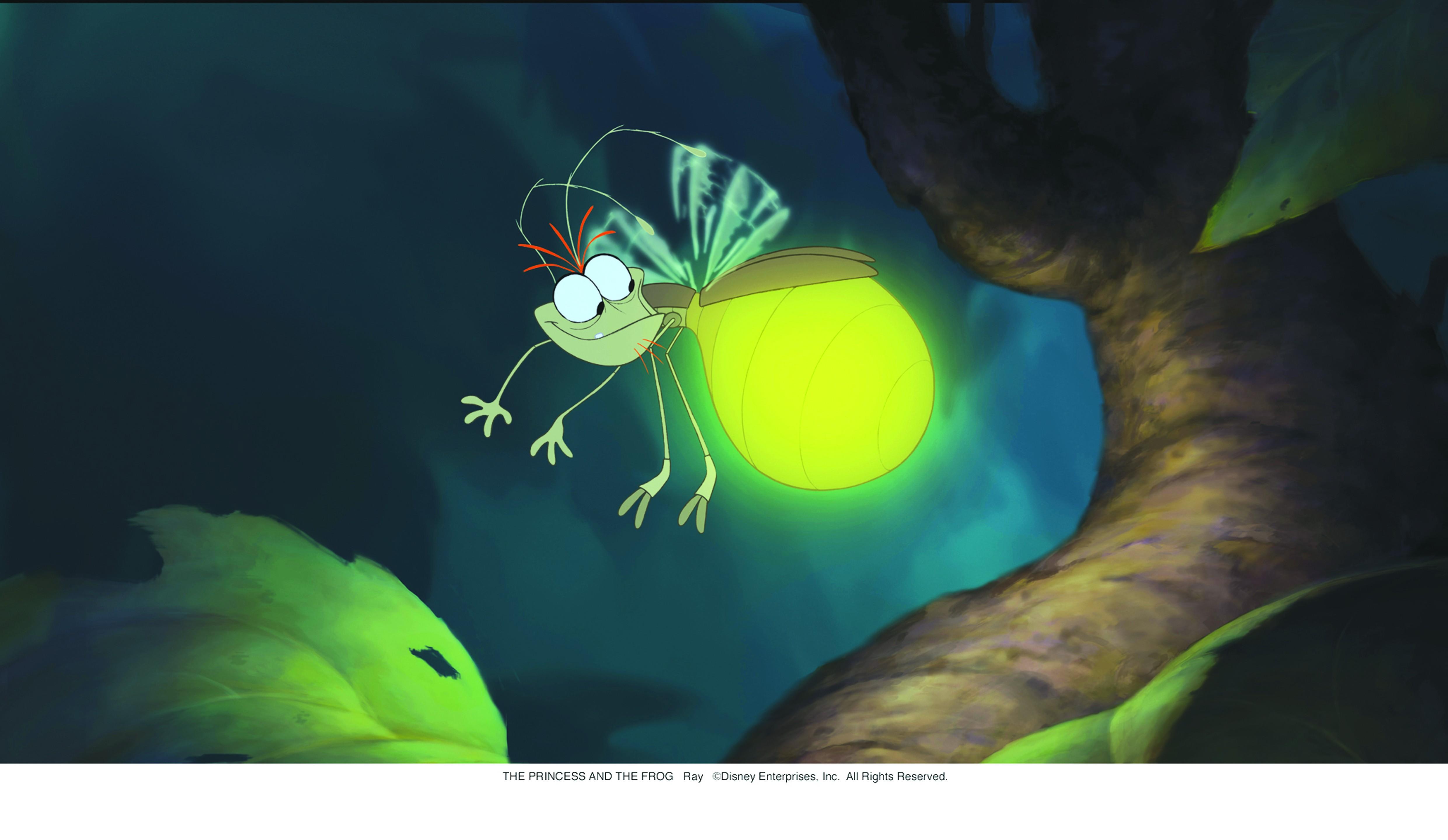 Wallpaper con la lucciola Ray del cartoon La principessa il ranocchio (2009)