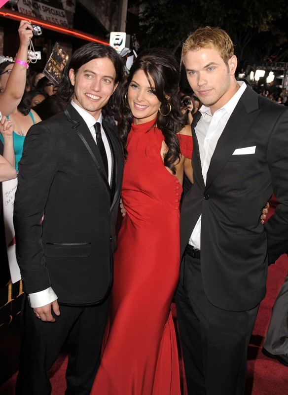 Jackson Rathbone, Ashley Green e Kellan Lutz alla premiere di The Twilight Saga: New Moon, a Los Angeles, il 16.11.2009