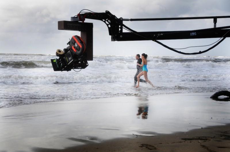 Una bella immagine scattata sul set del film Meno male che ci sei