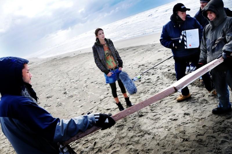 Una foto scattata durante le riprese del film Meno male che ci sei, di Luis Prieto