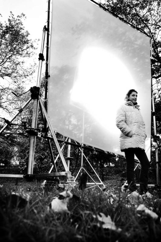 Una fotografia scattata sul set del film Meno male che ci sei
