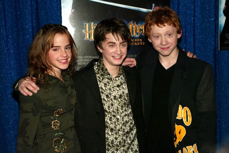 Emma Watson, Daniel Radcliffe e Rupert Grint alla premiere New Yorkese di Harry Potter e la Camera dei Segreti