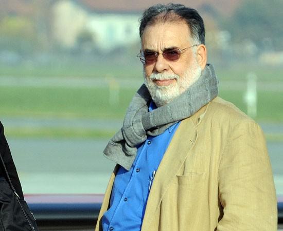 Francis Ford Coppola al suo arrivo a Torino per presentare Segreti di famiglia (Tetro, 2009)