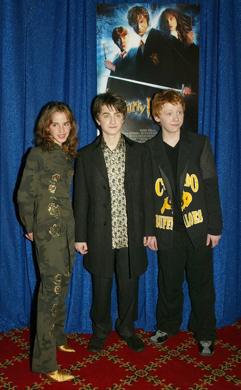 Il magico trio alla premiere del film 'Harry Potter e la Camera dei Segreti', a New York