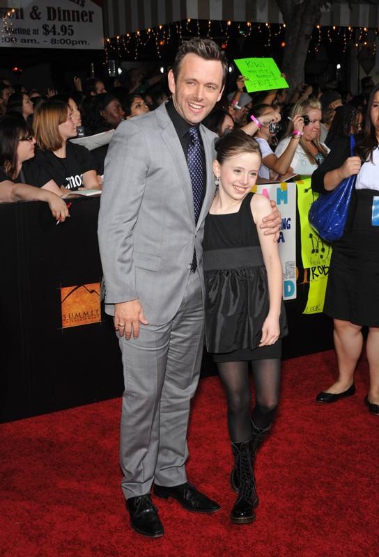 Michael Sheen e la figlia Lily alla premiere mondiale di The Twilight Saga: New Moon, a Los Angeles