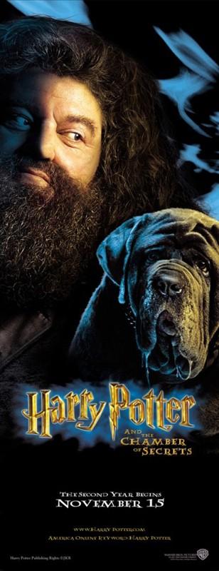 Un character poster di Rubeus Hagrid per il film Harry Potter e la Camera dei Segreti