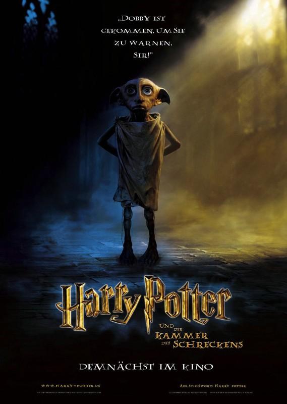 Un character poster tedesco di Harry Potter e la Camera dei Segreti con Dobby