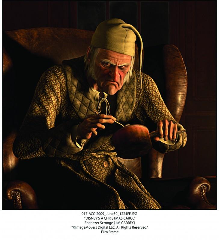 Ebenezer Scrooge (doppiato da Jim Carrey) è il protagonista della fiaba A Christmas Carol (2009)