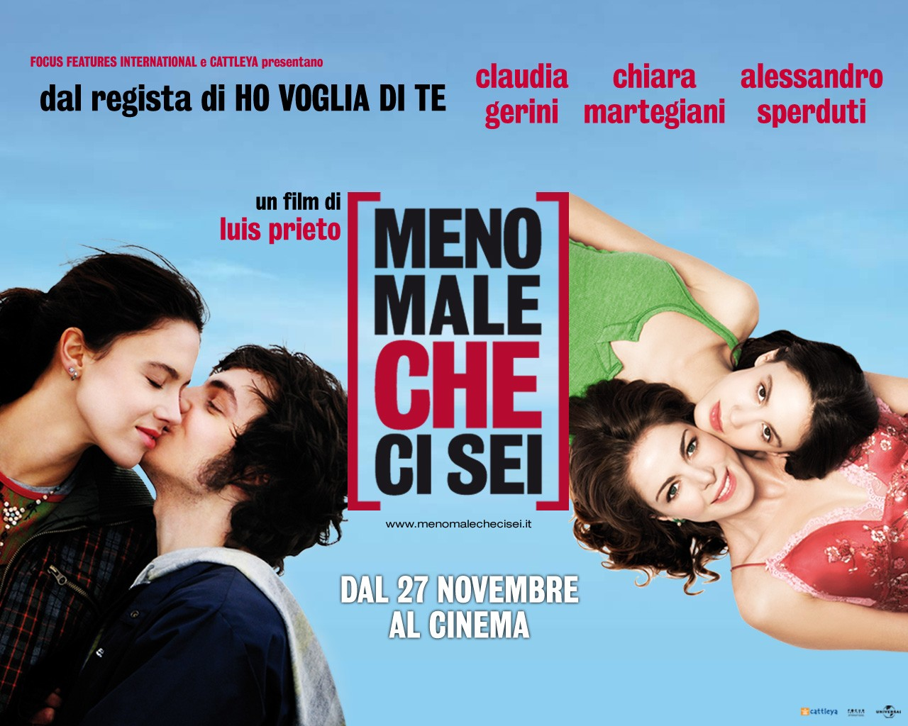 Un wallpaper del film Meno male che ci sei di Luis Prieto