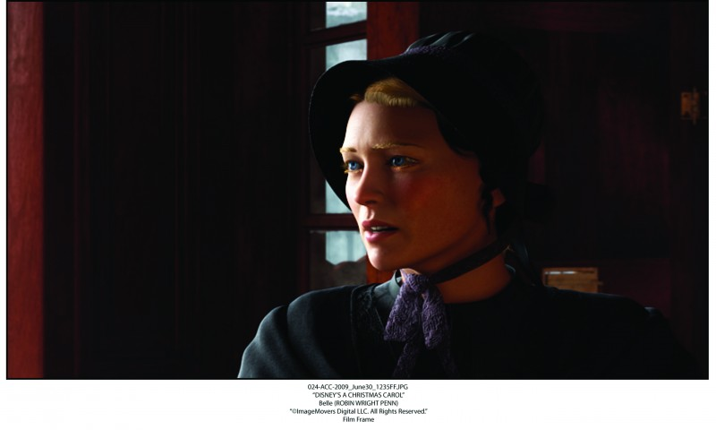 Una immagine di Belle (doppiata da Robin Wright Penn) in A Christmas Carol (2009) di Robert Zemeckis