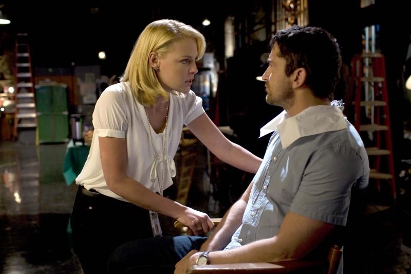 Katherine Heigl discute con Gerard Butler in una scena del film La dura verità (2009)