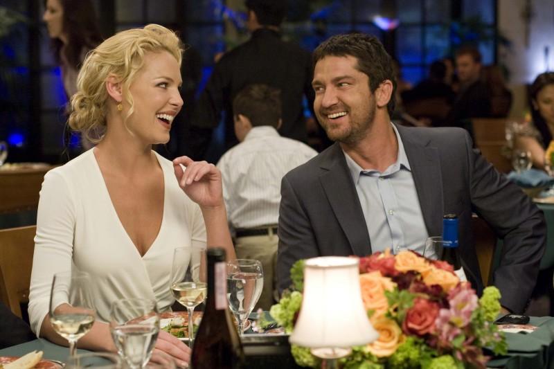 Katherine Heigl e Gerard Butler a cena insieme nel film La dura verità (2009)