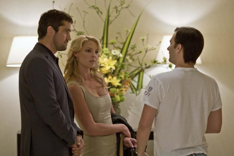 Katherine Heigl e Gerard Butler con il regista de La dura verità (2009) Robert Luketic
