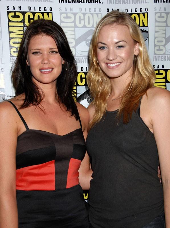 Le bellissime Sarah Lancaster ed Yvonne Strahovski al Comic-Con, il 25 Luglio 2009