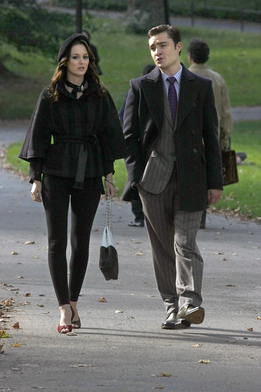 Leighton Meester e Ed Westwick nell'episodio The Last Days of Disco Stick della stagione 3 di Gossip Girl