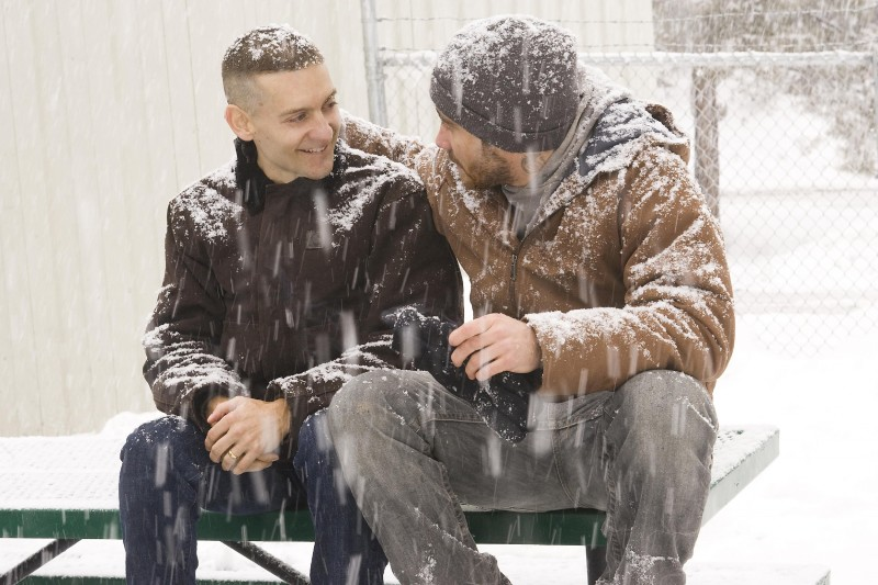 Tobey Maguire e Jake Gyllenhaal in una scena di Brothers
