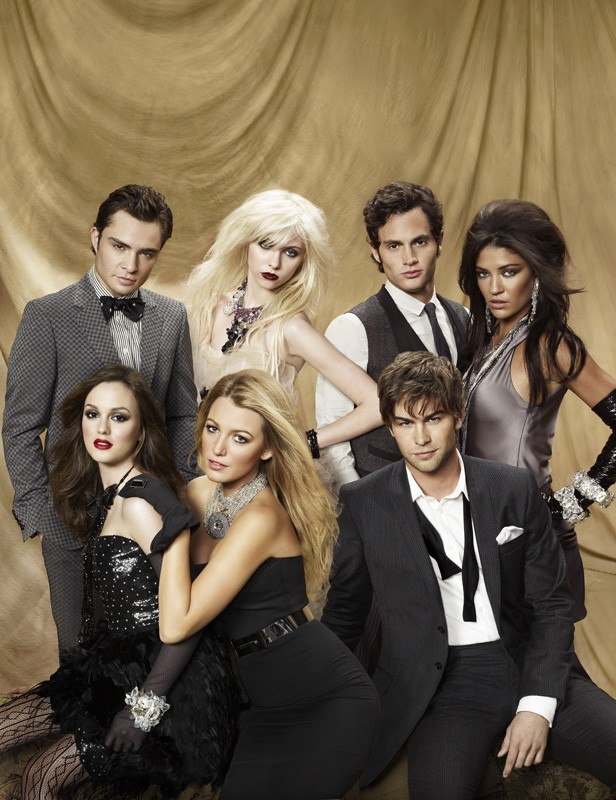 Una foto promozionale per la stagione 3 di Gossip Girl con il cast principale