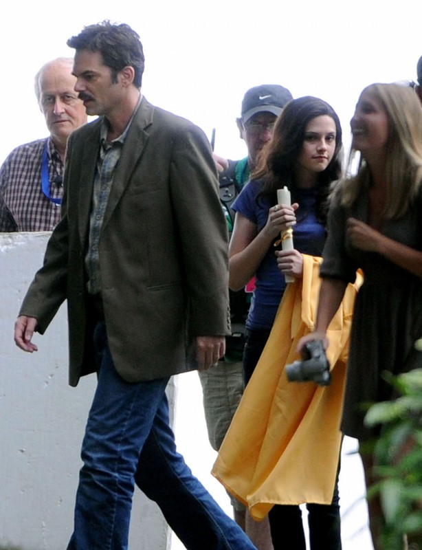 Billy Burke e Kristen Stewart sul set del film The Twilight Saga: Eclipse, il 28 Agosto 2009