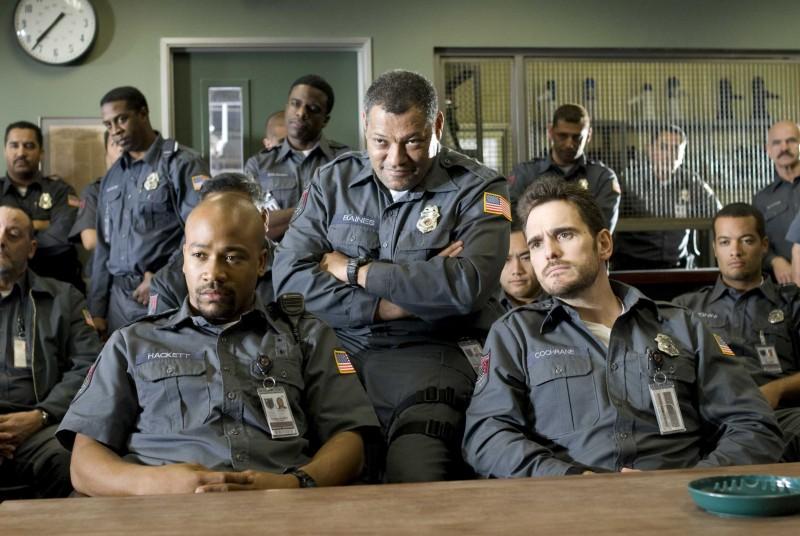 Columbus Short, Laurence Fishburne e Matt Dillon nel film Armored