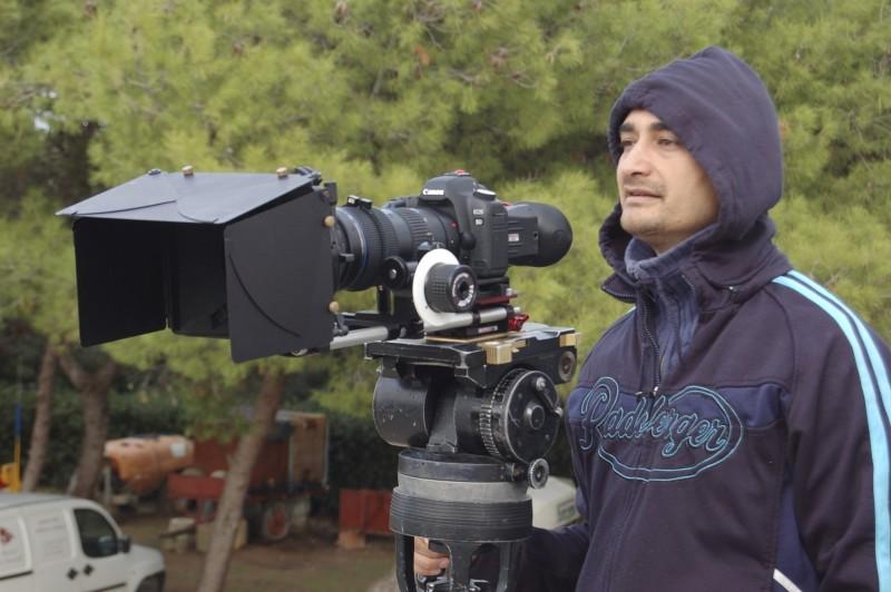 Il regista Ruben Maria Soriquez sul set di The Fall of Redemption (ph. Francesca Casadei)
