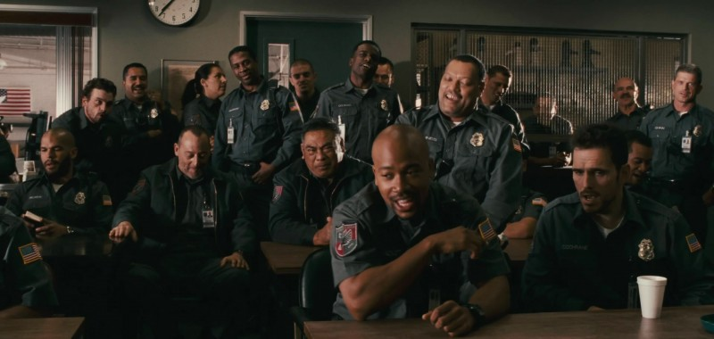 Amaury Nolasco, Jean Reno, Columbus Short, Laurence Fishburne e Matt Dillon nel film Armored
