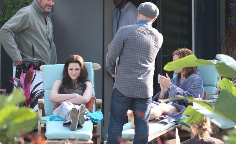 Kristen Stewart sul set del film The Twilight Saga: Eclipse, il 30 Agosto 2009