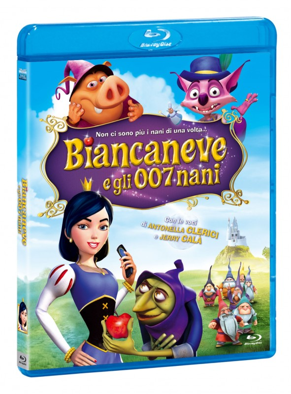 La copertina di Biancaneve e gli 007 nani (blu-ray)