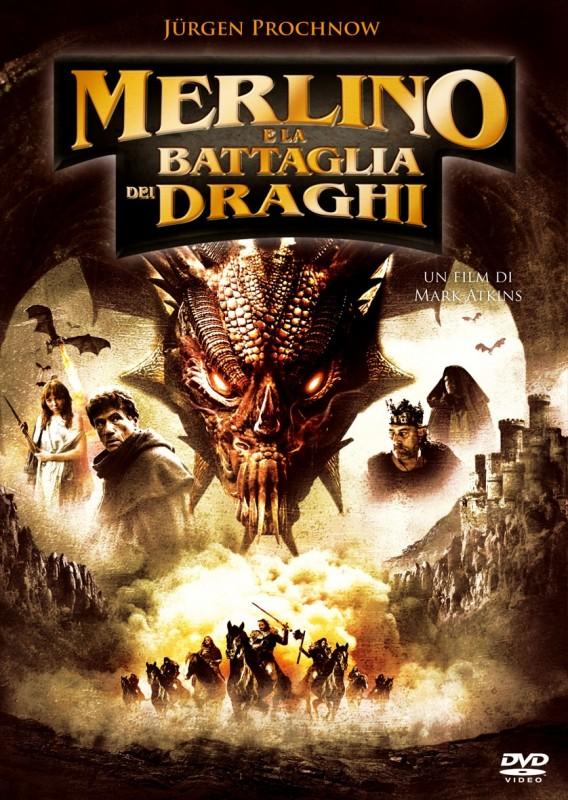 La copertina di Merlino e la battaglia dei draghi (dvd)