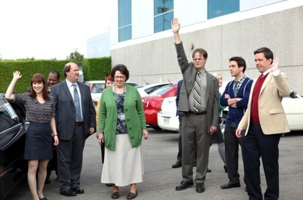 The Office: Rainn Wilson ed Ed Helms nell'episodio Shareholder Meeting