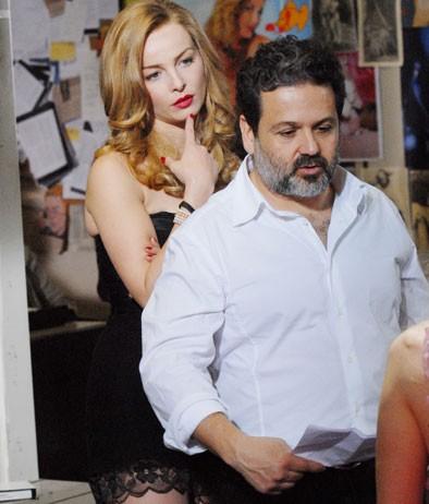 Violante Placido sul set di 'Moana' con Alfredo Peyretti